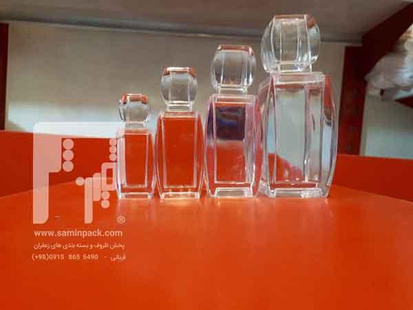 قوطی شیشه ای آذین زعفران