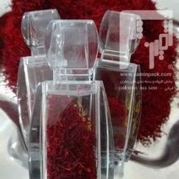 خرید قوطی شیشه ای درب دار زعفران