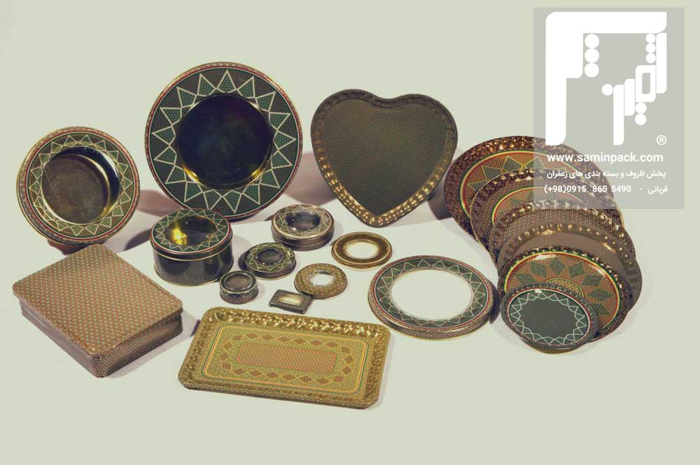 خرید انواع قوطی های فلزی زعفران