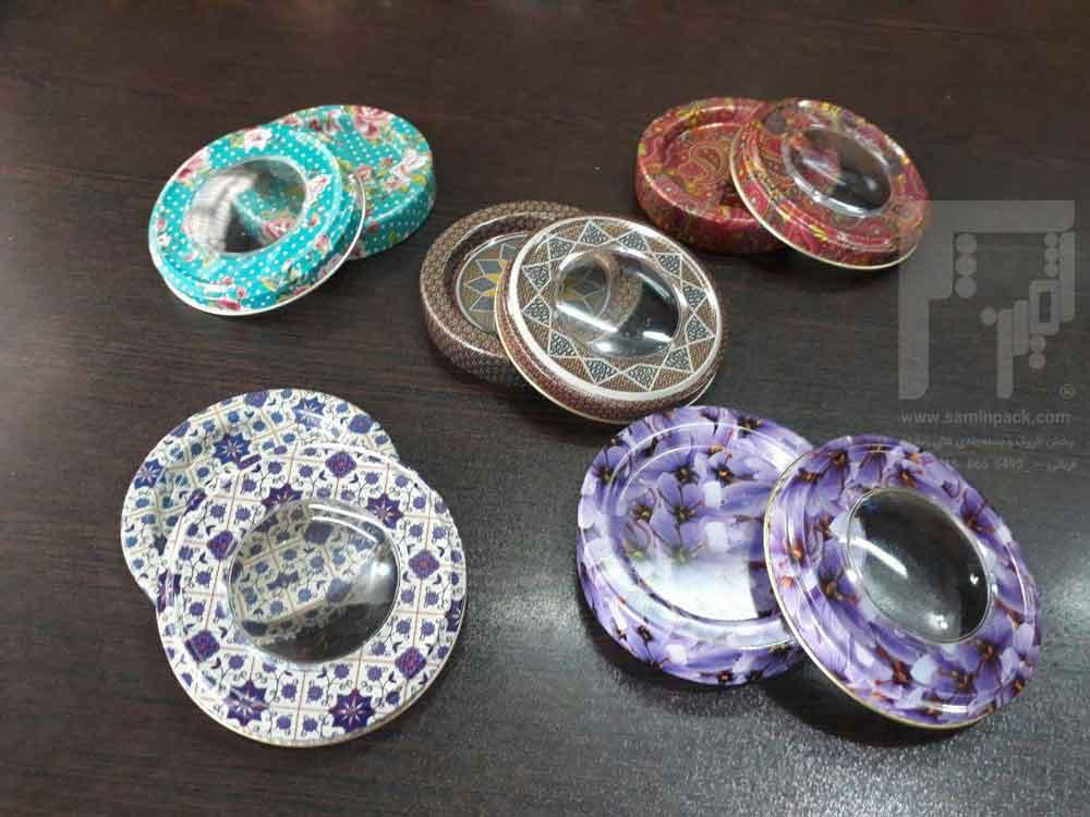 صادرات ظروف فلزی گلدار بسته بندی زعفران