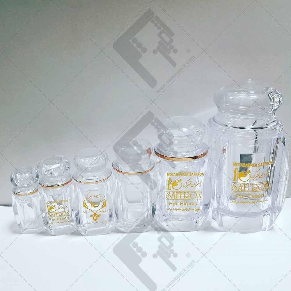 فروش ظروف شیشه ای زعفران