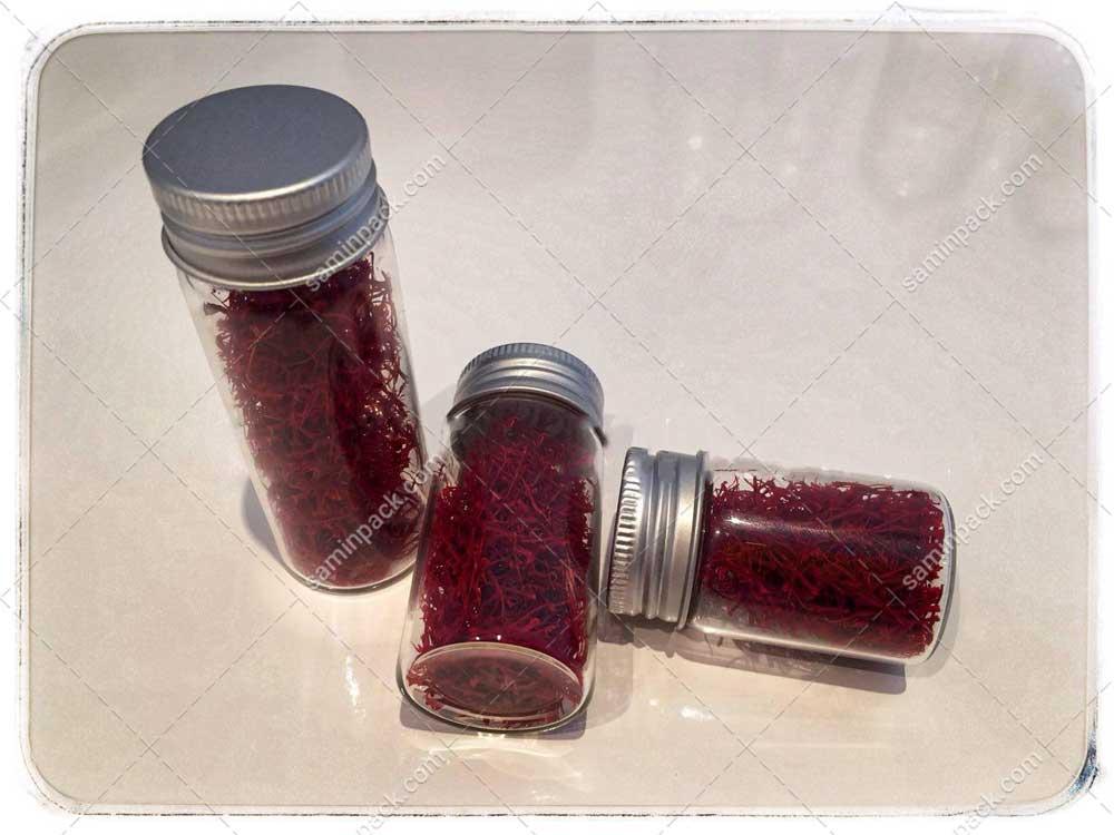 قیمت ظروف شیشه ای زعفران