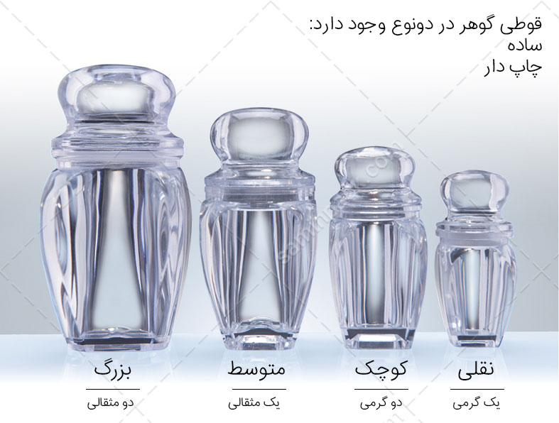 خرید قوطی یا ظرف گوهر زعفران