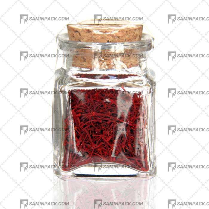 ظرف شیشه ای زعفران ارزان