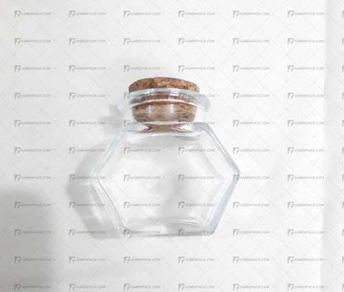 ظرف شیشه ای چوب پنبه دار