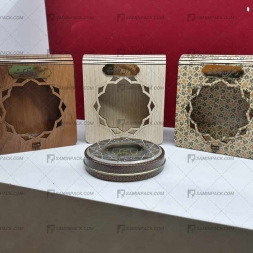 خرید جعبه چوبی کادویی زعفران