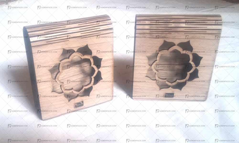 جعبه چوبی خاتم ( 3 گرم )