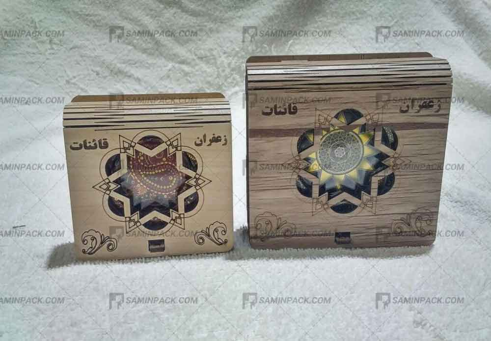 تولید و فروش جعبه های چوبی زعفران